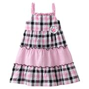 Sophie Rose Plaid Ruffled Sundress - Girls 4-6x