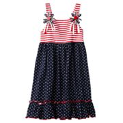 Sophie Rose Stars and Stripes Sundress - Girls 4-6x