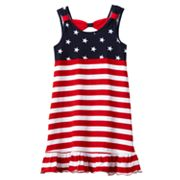 Sophie Rose Stars and Stripes Knit Sundress - Girls 4-6x