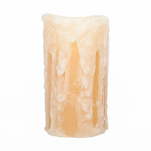 The Amazing Flameless Candle Honeysuckle 4 x 8 Flameless LED Pillar Candle