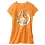 Mudd Splatter Peace Sign Burnout Tee - Girls Plus