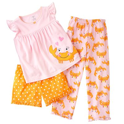 Carter's Crab Pajama Set - Girls