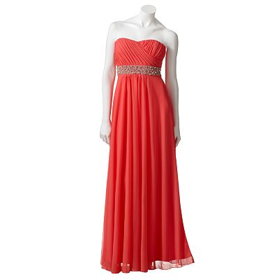 My Michelle Beaded Long Dress - Juniors