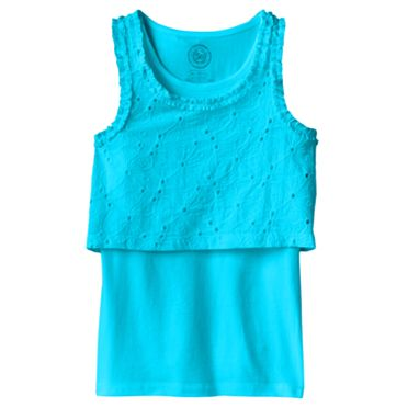 SO Eyelet Crop Top and Tank Set - Girls 7-16