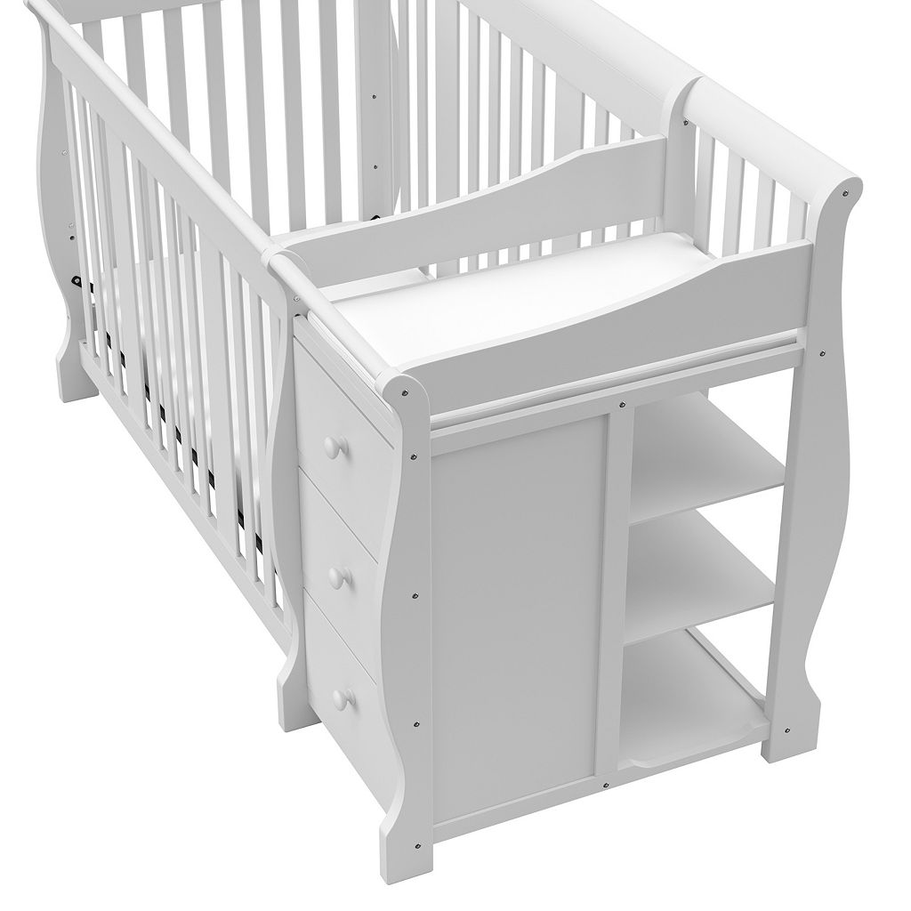Storkcraft Portofino 4-in-1 Fixed Side Convertible Crib Changer