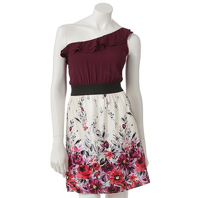 Speechless Floral Asymmetrical Dress - Juniors