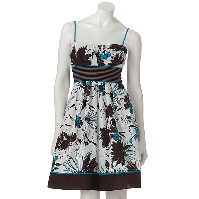Speechless Floral Pleated Dress - Juniors