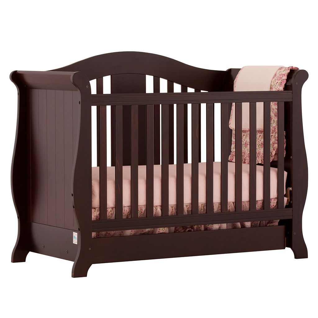 Stork Craft Vittoria 3-in-1 Fixed Side Convertible Crib