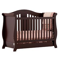 Stork Craft Vittoria 3-in-1 Fixed Side Convertible Crib by