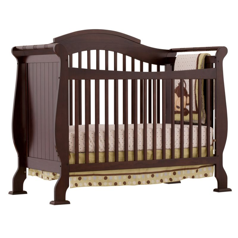 Stork Craft Valentia Fixed Side Convertible Crib, Brown