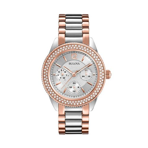 Bulova Women's Crystal Two Tone Stainless Steel Watch - 98N100