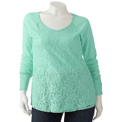 Eyelash Lace Top - Juniors' Plus