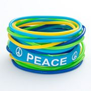 SO Peace Sign Jelly Bracelet Set