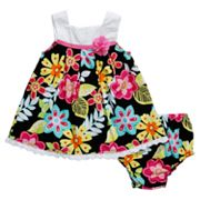Youngland Floral Pleated Sundress - Newborn