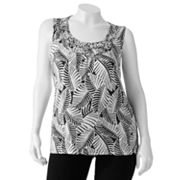 Croft and Barrow Printed Braided Tank - Women's Plus