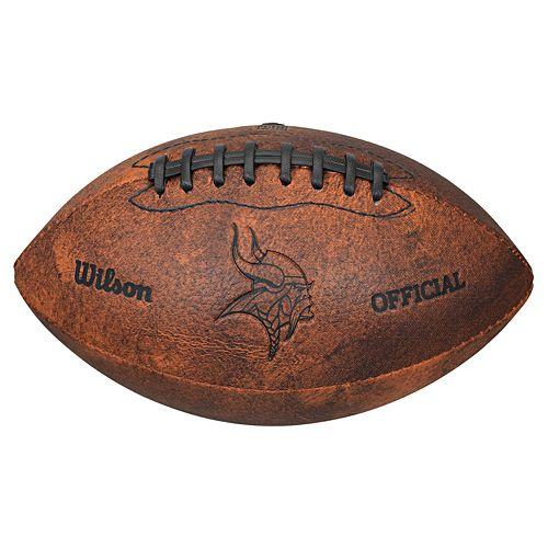 Wilson Minnesota Vikings Throwback Youth-Sized Football