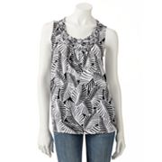 Croft and Barrow Printed Braided Tank