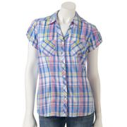 SONOMA life + style Plaid Camp Shirt