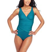Croft and Barrow Fit for You Hip Minimizer One-Piece Swimsuit