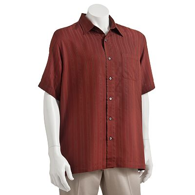 Van Heusen Striped Micro Smooth Casual Button-Down Shirt