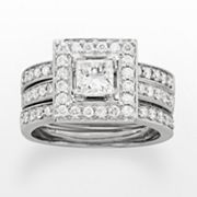 14k White Gold 1 1/6-ct. T.W. IGL Certified Princess-Cut Diamond Ring Set