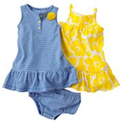 Carter's 2-pk. Floral and Striped Dresses - Baby