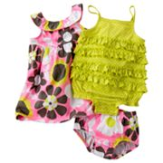 Carter's Floral Dress and Dot Romper Set - Baby