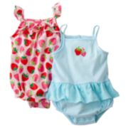 Carter's 2-pk. Strawberry Sunsuits - Baby
