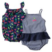 Carter's 2-pk. Cherry Sunsuits - Baby