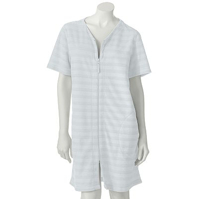 Croft and Barrow Striped Terry Duster Robe
