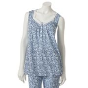 Croft and Barrow Midnight Blue Floral Pajama Tank
