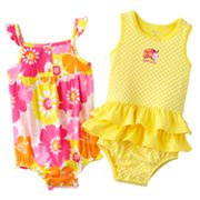 Carter's 2-pk. Floral Sunsuits - Baby