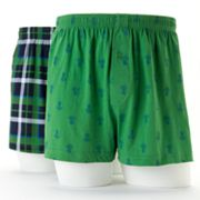 Croft and Barrow 2-pk. Pineapple Plaid Knit Boxers
