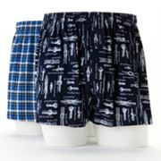 Croft and Barrow 2-pk. Rope Plaid Knit Boxers