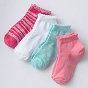 Trimfit 4-pk. Space-Dyed Low-Cut Socks - Girls