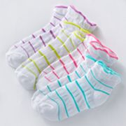 Trimfit 4-pk. Striped Drop Stitch Socks - Girls