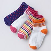 Trimfit 4-pk. Roll-Top Low-Cut Socks - Girls