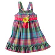 Sophie Rose Madras Plaid Sundress - Baby