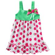 Sophie Rose Strawberry Polka-Dot Knit Sundress - Baby