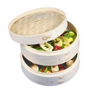 Asian Origins 3-Tier Bamboo Steamer Set