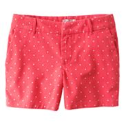 SO Dotted Chino Shorts - Girls Plus