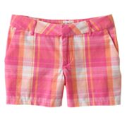 SO Plaid Chino Shorts - Girls Plus