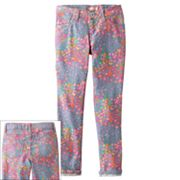 SO Butterfly and Floral Skinny Jeans - Girls 7-16