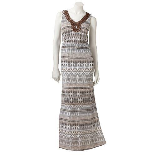 SONOMA Goods for Life™ Ikat Embellished Maxi Dress