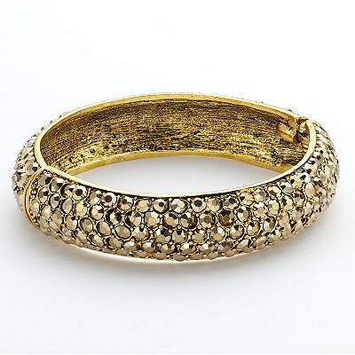 Simulated Crystal Bangle Bracelet