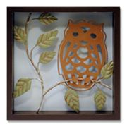 Owl Shadowbox Wall Art