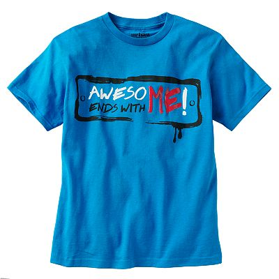Urban Pipeline Awesome Ends With Me Sign Tee - Boys 8-20