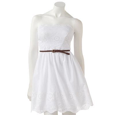 City Triangles Floral Eyelet Dress - Juniors