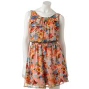 City Triangles Floral Chiffon Dress - Juniors
