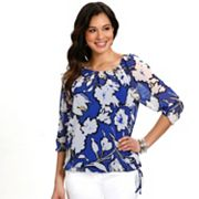 daisy fuentes Floral Peasant Top Set